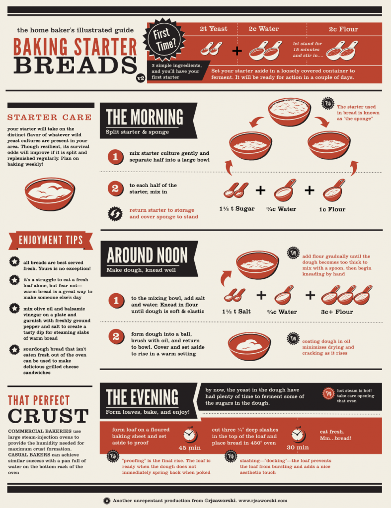 an illustrated guide to starter breads
